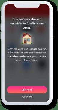 Auxílio Home Office no app Flash Benefícios